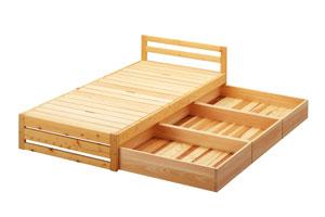 ひのきのベッド 収納セット