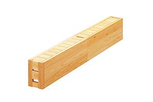 ひのきのベッド フラット 収納ベンチ