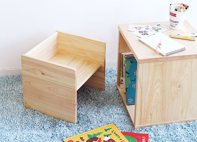 まめチェア │ 上質な木製ベビーチェア