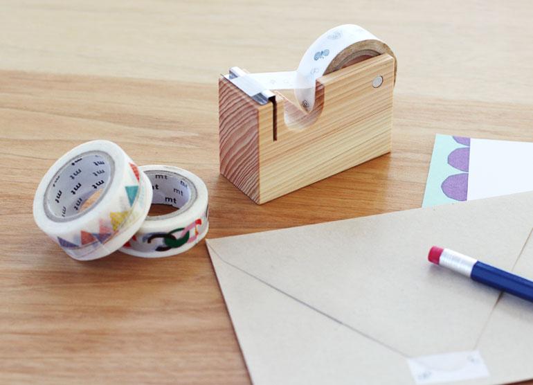 つながるマスキングテープカッター お気に入りのテープを、見せて収納