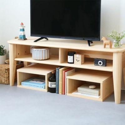 テレビボードの下スペースを有効活用<br>テレビボード F120 / waku 1/2