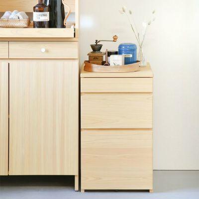 キッチン収納としても活躍<br>キッチンボードA80 / サイドワゴン50