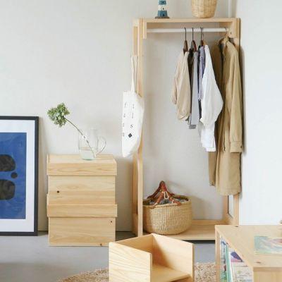 リビングやベッドルームの収納に<br>cha-baco / ハンガーラック 60
