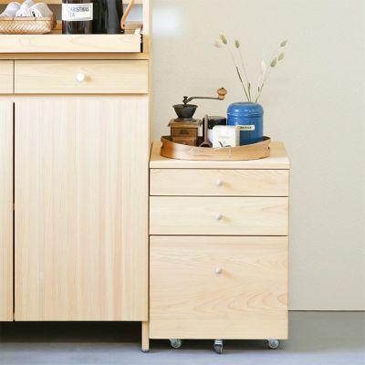 キッチン収納としても活躍<br>つまみワゴンL / キッチンボード A80