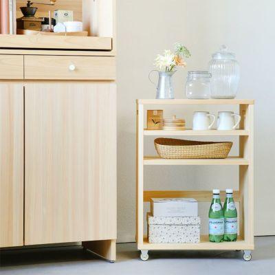 調味料やストック類を入れてキッチン収納に<br>キッチンボード A80 / オープンワゴン ハイ