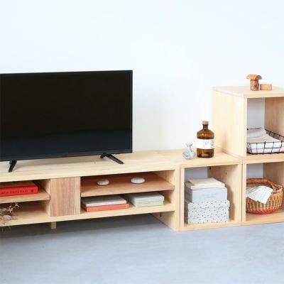テレビボードNシリーズと気持ちよくフィット<br>テレビボード N120 / waku