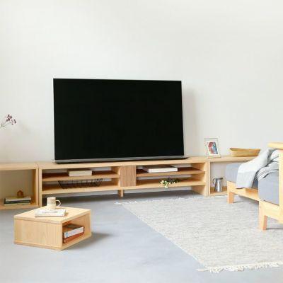 リビングの簡易テーブルとしても使いやすい<br>waku-W / waku-1/2 / テレビボード N160 <br>ソファ S 2.7