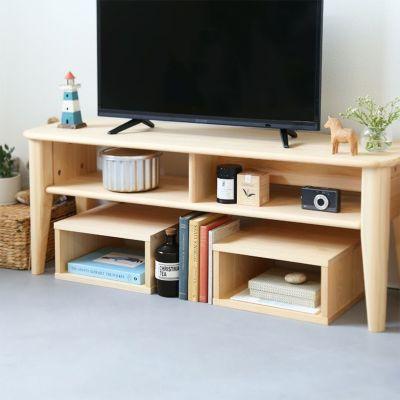 お部屋の空いたスペースを有効活用できる<br>テレビボード F120 / waku 1/2