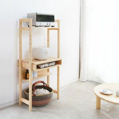 キッチン用品の収納棚としても使い勝手良し<br>デスクラック 60 / ちゃぶ台 80