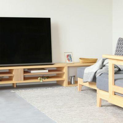 waku Wと合わせればより広々とした天板に<br>テレビボード N120 / waku W / ソファ S1.4