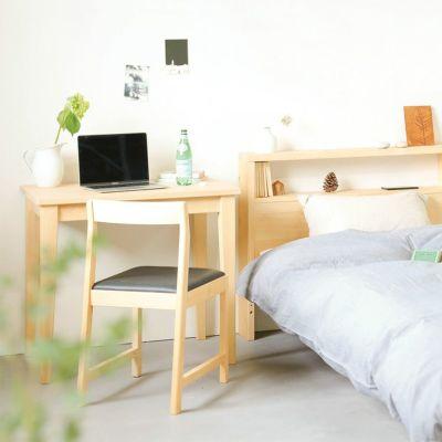 使い勝手の良い大人のベッドルーム<br>ベッドM ヘッドボード / ダイニングテーブル D -EASY ORDER-<br>Fチェア レザー