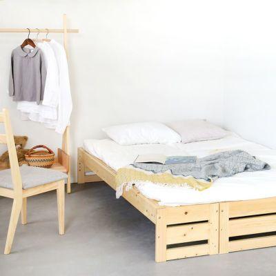 親子でゆったり眠れるベッドルーム<br>デイベッド フラット / ベッドM フラット / サクラハンガー<br>Gチェア basic color(撥水グレー)