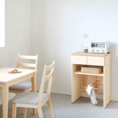 省スペースイメージ<br>キッチンカウンター B60(くるみ)<br>ダイニングテーブル -EASY ORDER-<br>Gチェア basic color(撥水グレー)