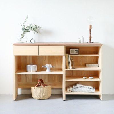 リビング収納<br>キッチンカウンター B80(草木染め)<br>キッチンカウンター C60(草木染め)
