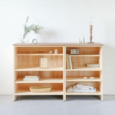リビング収納<br>キッチンカウンター C60(草木染め)<br> キッチンカウンター C80(草木染め)