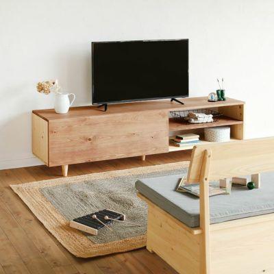 ソファと合わせて、くつろぎの空間づくり<br>テレビボード C180 / ソファ K2.5(グレー)<br>XYLo / はじめての積み木セット(黄緑)
